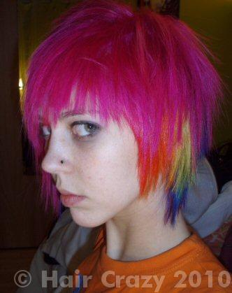atomic pink special effects hair dye haircrazy