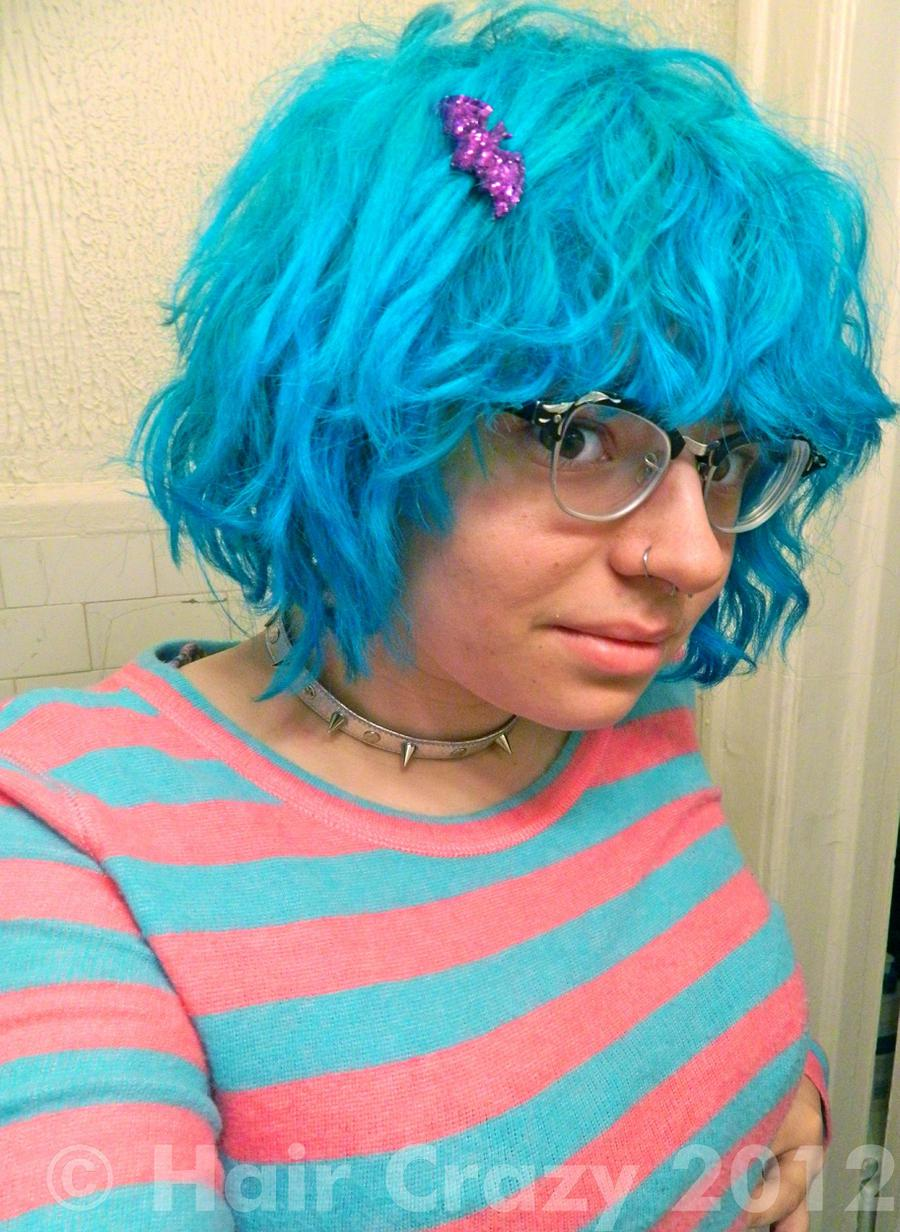 oldschoolghoul -   - Manic Panic Atomic Turquoise   - Special Effects Fish Bowl   - Twisted Teal