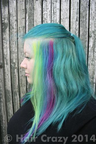 buy directions neon blue directions hair dye haircrazy