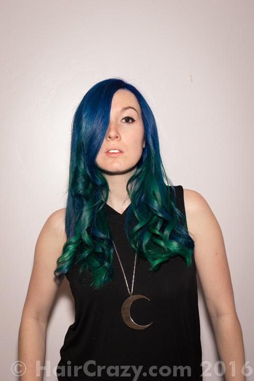 thepalehippie -   - Neon Green   - Pravana Locked-In Blue
