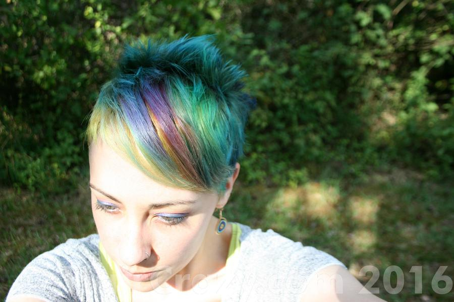 cryingcalypso -   - Atomic Turquoise   - Bad Boy Blue   - Electric Banana   - Red Passion   - Siren's Song   - Violet (Pravana)